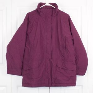 LL Bean Insulated Coat Jacket Thinsulate Purple L
